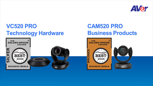 AVer VC520 PRO and CAM520 PRO Win 2020 Golden Bridge Business and Innovation Awards®